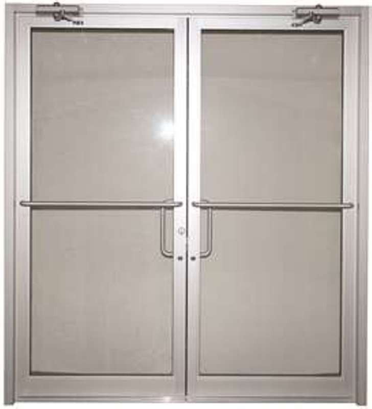 Business door commercial exterior doors with glass photo 1 for Double opening front doors