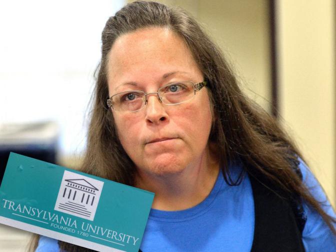 Kim Davis Refuses Transylvania Parking Pass to Gay Student